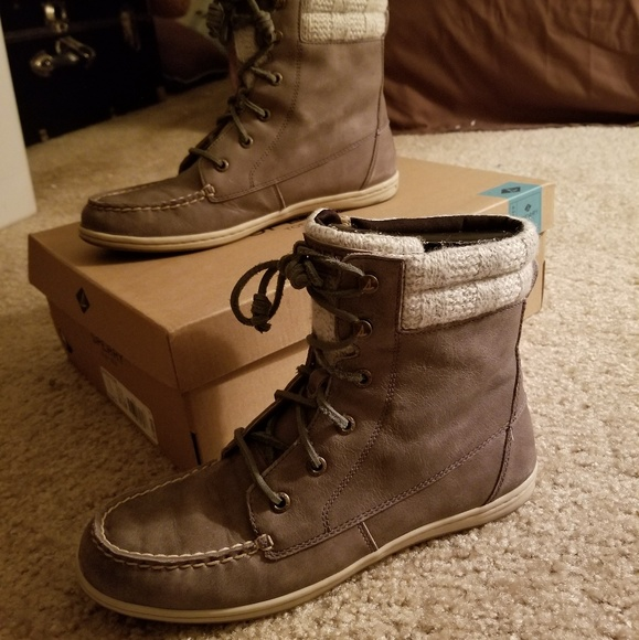 Sperry Shoes | Sperry Bayfish Boot Grey